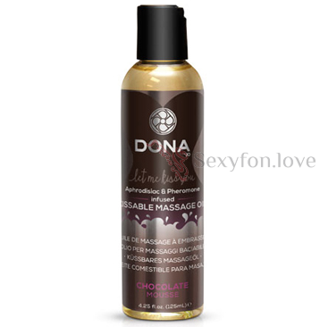 Массажное масло DONNA Kissable Massage Oil Chocolate Mousse 110 мл.